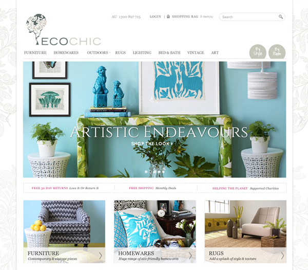 ecochic website design by Zeald