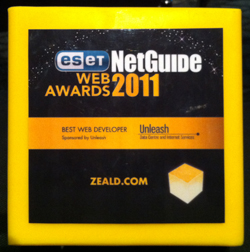 Zeald Winners of Net Guide Web Awards 2011